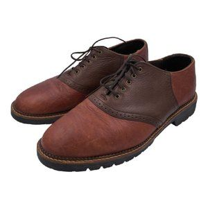 H.S. TRASK Men's 9.5 M Brown/Brown Leather Lace Up